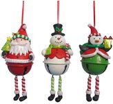 St. Nicholas Square® Kid Dangle-Leg Bell Christmas Ornament 3-piece Set