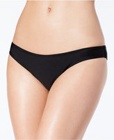 Jessica Simpson Shirred Cheeky Bikini Bottoms Women's Swimsuit