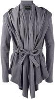 Unconditional belted drape insert jacket - men - Cotton - L