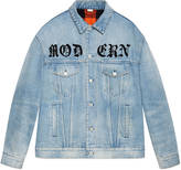 Gucci Oversize denim jacket with appliqués