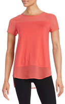 Vince Camuto Mesh Paneled Top