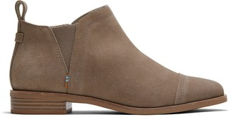 Toms Taupe Grey Suede Women's Reese Booties