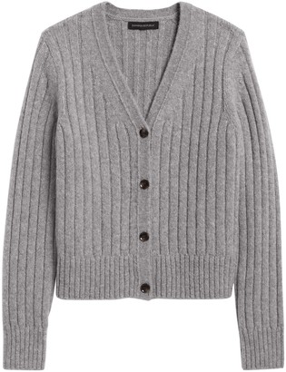 Banana Republic Merino-Blend Cropped Cardigan Sweater