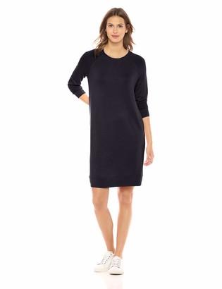 Daily Ritual Amazon Brand Women's Supersoft Terry Long-Sleeve Raglan Sweatshirt Dress