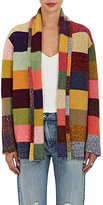 The Elder Statesman Women's Rainbow Stripe Cashmere Cardigan