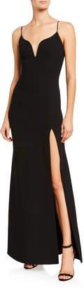 Jill Stuart Plunge-Neck Bodycon Gown