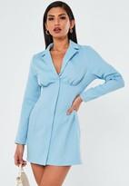 Missguided Blue Corset Blazer Dress