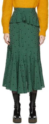 ALEXACHUNG Green Ossie Skirt