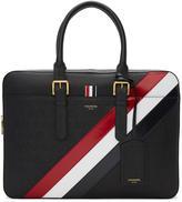 Thom Browne Black Diagonal Stripe Business Briefcase