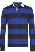 Tommy Hilfiger Block Stripe Rugby Top, Sodalite Blue