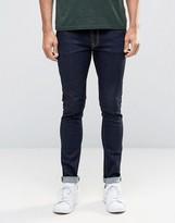 Nudie Jeans Skinny Lin Super Skinny Jeans Rinse Deep Indigo