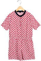 Marni Girls' Short Sleeve Printed Romper w/ Tags