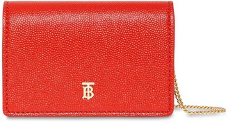 Burberry JESSIE GRAINED LEATHER CHAIN WALLET