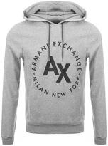 Armani Exchange Logo Hoodie Grey