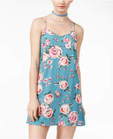 Teeze Me Juniors' Floral-Print Slip Dress
