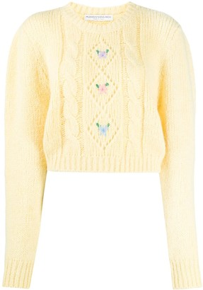 Alessandra Rich Cable-Knit Alpaca Wool Jumper