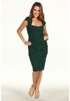 Nicole Miller Solid Jersey Cap Sleeve Dress (Hunter) - Apparel