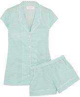 Three J NYC Olivia Polka-dot Cotton Pajama Set - Mint