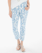 Chico's Grecian Ikat Crop Jeans in Lakeshore Blue