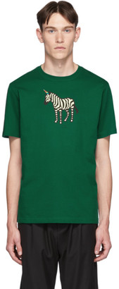 Paul Smith SSENSE Exclusive Green Zebra Regular Fit T-Shirt
