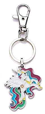 Hasbro Jewelry Girls My Little Pony Base Metal Princess Celestia with Stainless Steel Key Chain