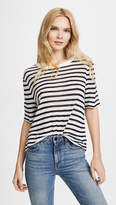 Alexander Wang Striped Cropped Tee