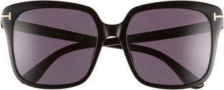 Tom Ford Faye 56mm Gradient Square Sunglasses
