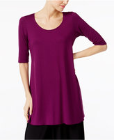 Eileen Fisher Lightweight Jersey Scoop-Neck Tunic, A Macy's Exclusive
