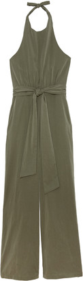 Bishop + Young Women's Margot Halter Jumpsuit In Color: Olive Size XS From Sole Society