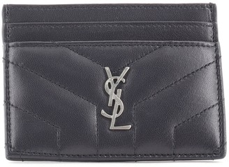 Saint Laurent LouLou Card Holder Matelasse Chevron Leather