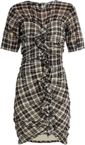 Etoile Isabel Marant Wallace checked cotton-blend mini dress