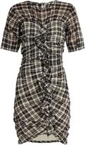 Etoile Isabel Marant Wallace checked mini dress