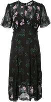 Coach floral detail short sleeve dress - women - Viscose - 0