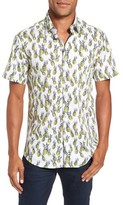 Stone Rose Men's Pineapple Print Sport Shirt