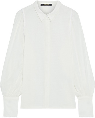 Mother of Pearl Natalie Picot-trimmed Organic Cotton-jacquard Shirt