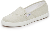 Superga Linen Slip On Sneakers
