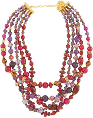 Jose & Maria Barrera Jade Bead Twist Necklace