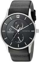 Obaku Men's V157GMCBRB Analog Display Analog Quartz Watch