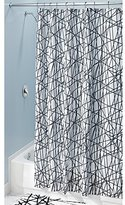 """InterDesign Abstract Fabric Shower Curtain - Long, 72"""" x 84"""", Black/White"""