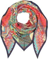 Missoni Multicolor Printed Pure Silk Triangle Scarf