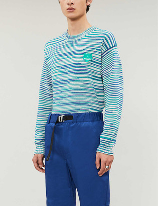 Kenzo Tiger patch cotton-knit jumper