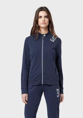 Emporio Armani Ea7 Full-Zip Sweatshirt In French Terry Fabric