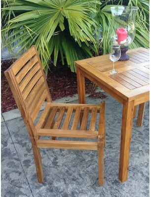 Kasandra Teak Patio Dining Chair Chic Teak