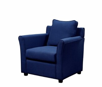 Skegness Armchair Darby Home Co Fabric: Royal Blue Polyester Blend, Leg Color: Expresso Brown Polyester Blend
