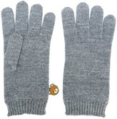 Moschino bear engraved gloves - women - Acrylic/Cashmere/Wool - One Size