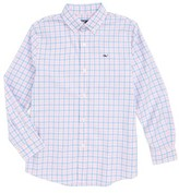 Vineyard Vines Boy's Saddle Bay Check Whale Woven Shirt
