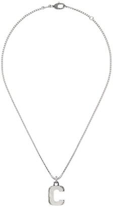Gucci C letter necklace