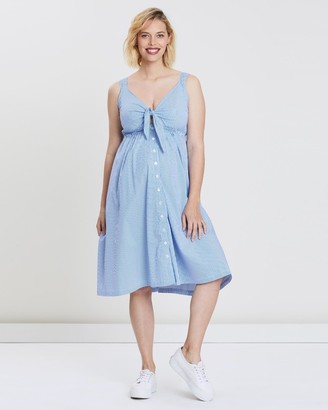 Bump Love Maternity Emma Tie Front Dress