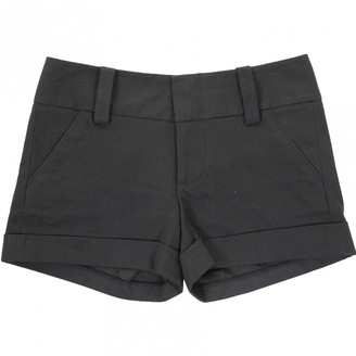 Alice + Olivia Black Cotton Shorts for Women