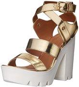 Qupid Women's Crank-03 Platform Sandal